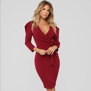 Can't Get Enough Dress -  Burgundy - New with tag
